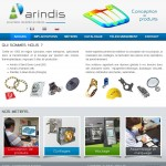 Site Internet d'Arindis (solutions thermoplastiques)