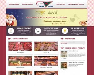 Site Internet de Miss Beef