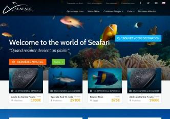 Site internet de Seafari International proposant des croisières de plongées. www.seafaridiving.fr