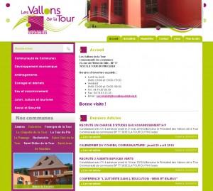 Site Internet de la communauté de communes des Vallons de la Tour
