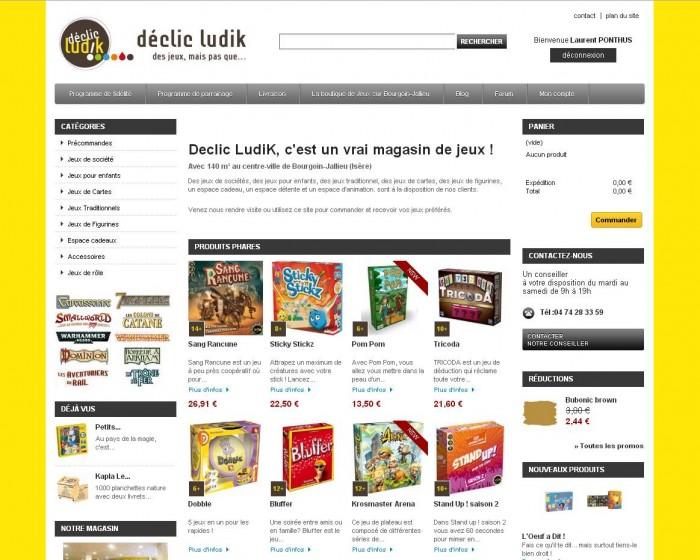 Site de vente en ligne Declic LudiK