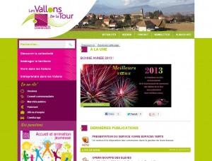 Site Internet Communauté de Communes Les Vallons de la Tour
