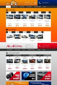 Site Internet d'ABC Location et de Kiss Automobiles animés par espace commun. www.abc-location.fr et www.kiss-automobiles.fr