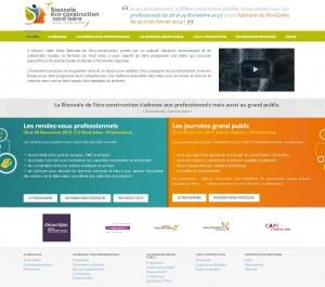 Site Internet de la biennale de l'Eco-Construction en Nord-Isère