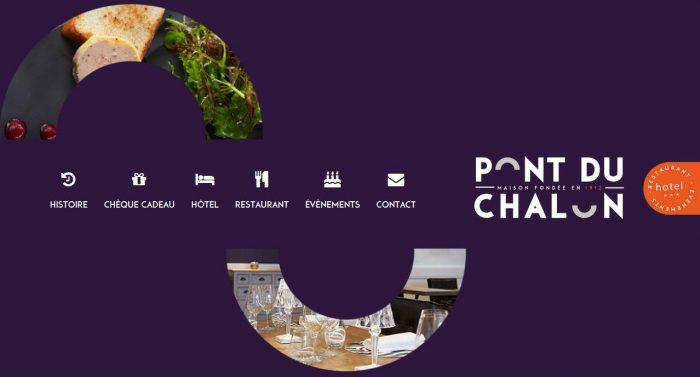 Site Internet hôtel restaurant Pont du Chalon