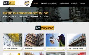 Site Internet de l'organisme de formation Conform  www.conform.fr